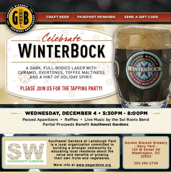 WinterBock tapping party 12/4/13 @ 100 M St SE