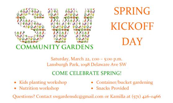 March 22 Spring Kickoff