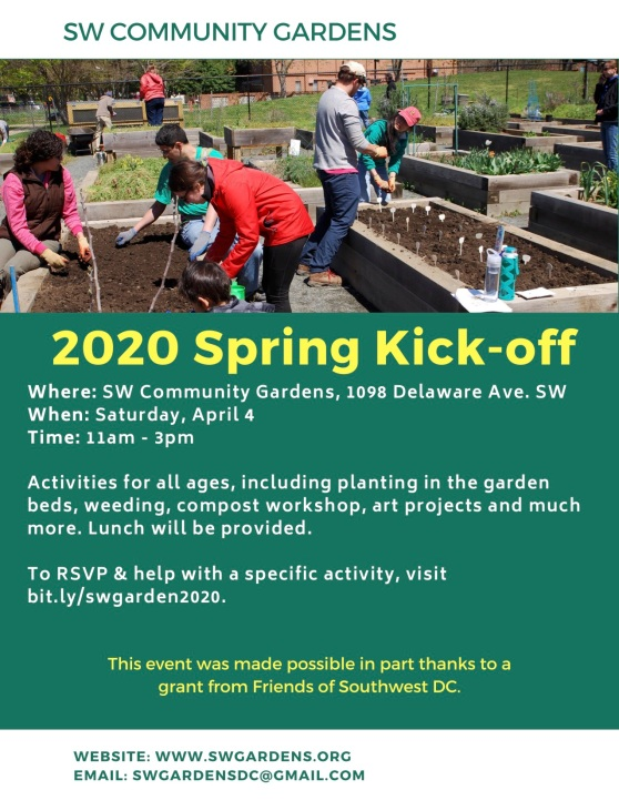 SW Gardens 2020 Spring Kickoff